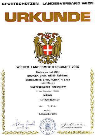 Wiener Landesmeister Mannschaft SGKP-FFW 2005