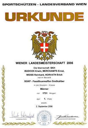 Wiener Landesmeister Mannschaft SGKP-FFW 2006