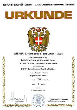 LM SGKP-FFW 2008 - Mannschaft Bronze