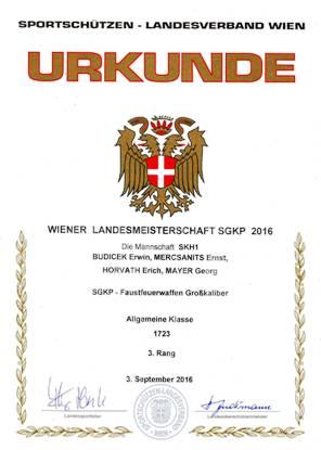 Wiener Landesmeister Mannschaft SGKP-FFW 2016